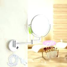 wall mirrors light up makeup mirror professional mounted round magnifying led natural ottlite daylight white chrome