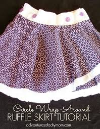 circle wrap around ruffle skirt tutorial by adventures of a diy mom