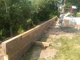 est wood retaining wall to build farmhouse design and