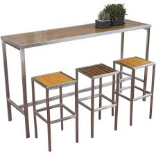 metal and wood patio furniture. Brilliant And Stunning Outdoor Wood Bar Table 12 Tall Metal Bistro Furniture And Chairs  Throughout Patio O