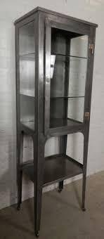 Antique Medicine Cabinet Vintage Medical Cabinet W Glass Shelves At 1stdibs
