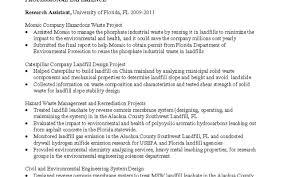 Industrial Engineer Sample Resume Elegant Industrial Engineering