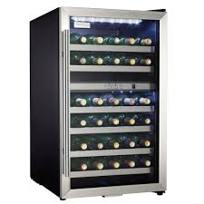 Danby DWC114BLSDD 38-Bottle Dual Zone Wine Cooler - Stainless ...