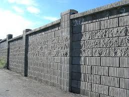concrete block wall fence designs