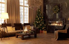 Living Room Christmas Decoration Decorations Natural Colored Modern Living Room With Christmas