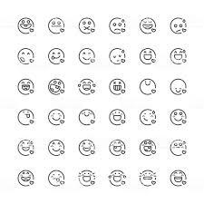 絵文字 セット 31 細いラインシリーズ 2016年のベクターアート素材や