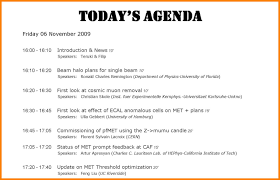 How To Write An Agenda Of A Meeting 10 Sample Of A Meeting Agenda Resume Samples