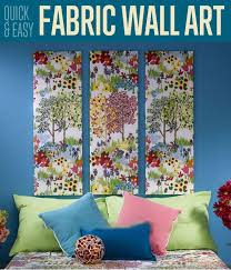 diy wall art using fabric