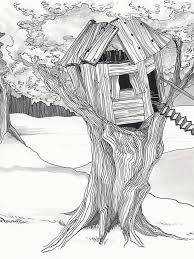 how to draw a treehouse step by step. Plain Draw Tree House Drawing Save 75 Best Treehouse Art Images On Pinterest Houses Throughout How To Draw A Step By