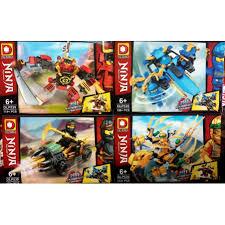 Đồ chơi lắp ráp xếp hình Non lego ninjago season 10 rồng vàng, xe, máy bay  mini samurai nya ninja jay cole, lloyd dlp539 giảm chỉ còn 140,000 đ