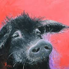 pigs blackpig kitchendecor pig painting for your kitchen decor percival