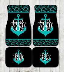car floor mats for women. Nautical Monogram Anchor Car Floor Mats Anchors Personalized Custom Monogrammed Gifts Cute Accessories For Women O