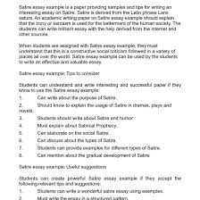 examples of a satire essay bucket list ethan frome essays for   examples of a satire essay bucket list ethan frome essays for
