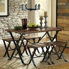 distressed industrial furniture. Signature Design By Ashley Freimore 5 Piece Rectangular Dining Table Set Distressed Industrial Furniture