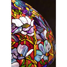 Handmade Tiffany Stained Glass Magnolia Floor Lamp Shade Nicholas