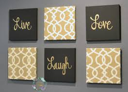 inspirational wall art set 6 piece wall art set  on chic wall art set with black and gold eat drink be merry chic wall art set