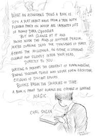 Bob Stegner Authors Blog A Quote From Carl Sagan About Books