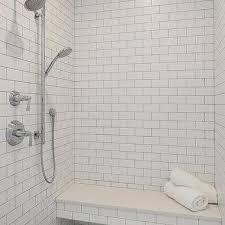 tile shower bench. Unique Tile Floating Shower Bench Over Marble Hexagon Tiles In Tile L