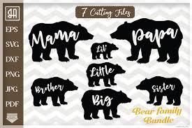 You would receive an email directing you to the zip file. Bear Family Bundle Svg Bear Svg Bear Family Svg 101598 Svgs Design Bundles