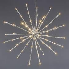Nipach Gmbh 80 Led Meteor Stern Leuchtfarbe Warm Weiß ø 40 Cm Für Innen Und Außen Mit Trafo Timer Weihnachtsstern Zum Aufhängen Dekostern Xmas Deko