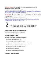Solutions Manual For Principles Of Microeconomics 8th