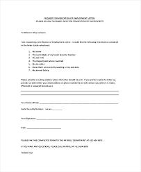 Work Verification Letter Template Professional Employment