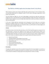 Mobile Developer Resume Mobile App Developer Resume Archives Htx Paving