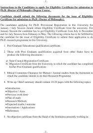 Doctor Applications Application For Issue Of Eligibility Certificate Ph D Doctor Of