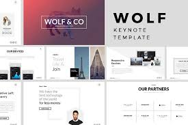 Keynote Templates Wolf Minimal Keynote Template Kreativ Graphic