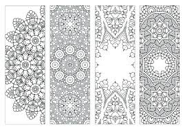 Bookmark Coloring Pages Free Printable Bookmark Template Word Adult Coloring Pages