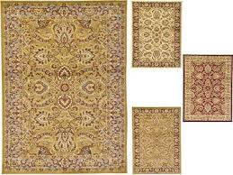 traditional area rug fl persian design large red cream beige carpet small
