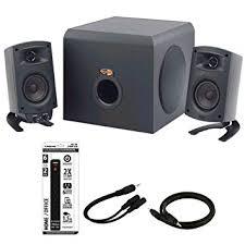 office speaker system. klipsch promedia 21 thx certified computer speaker system 3piece set 1011400 office