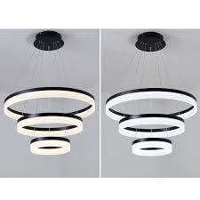 modern acrylic led rings pendant light for s living room hotel mall