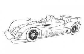 Small Picture Ginetta Zytek GZ09S Le Mans Prototype Race Car Coloring Page