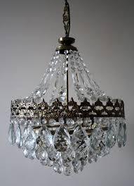 2018 antique vintage french basket style brass crystals chandelier regarding antique style chandeliers