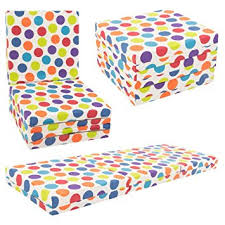 kids chair bed. Plain Bed KIDS CHAIR BED  Kids Folding Chairbed Futon Guest Z Bed Childrens Multi  Spotty On Chair Bed D