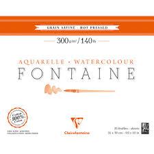Fontaine <b>hot</b> pressed pad 300g 20sh 24x30 - Watercolour - <b>Fine arts</b> ...