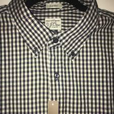 J Crew Men S Shirt Size Chart J Crew Classic Men S Plaid Dress Shirt Size Xl Nwt