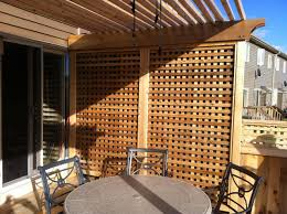... Hand Made Lattice Privacy Screen ...