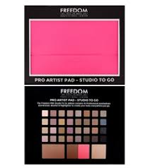 freedom makeup london pro artist pad studio to go pink