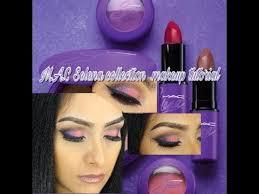 m a c selena makeup collection tutorial all 5 eye shadows eyeliner more
