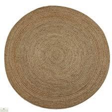 natural round jute rug
