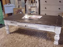 distressed white wood end tables small black coffee table rustic painted cream distressed end tables