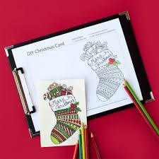 create your own christmas cards free printable free christmas coloring card