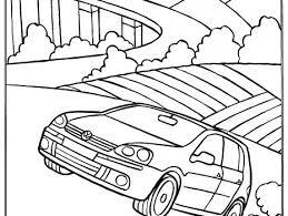 Kleurplaat Volkswagen Golf