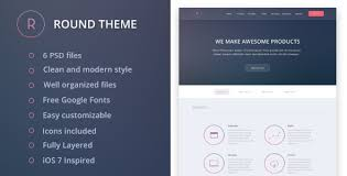 Best Free Website Templates Classy Round PSD Template Psd Templates Template And Personal Portfolio