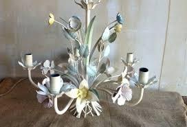 antique tole chandelier vintage tole chandelier in pastel vintage french tole chandelier