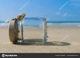 Image result for transparent bottle at sea