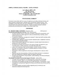 Gallery of resume examples social work