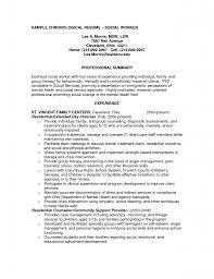 Gallery of resume examples social work